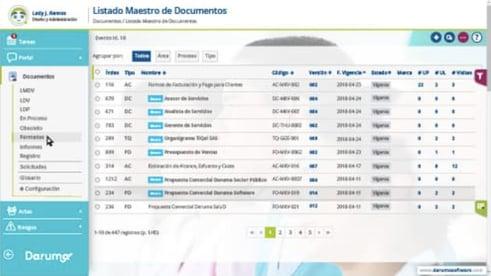 muestra software Daruma